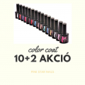 Nail Gel Color Coat 10 db + TOP coat + BASE coat AKCIÓ!